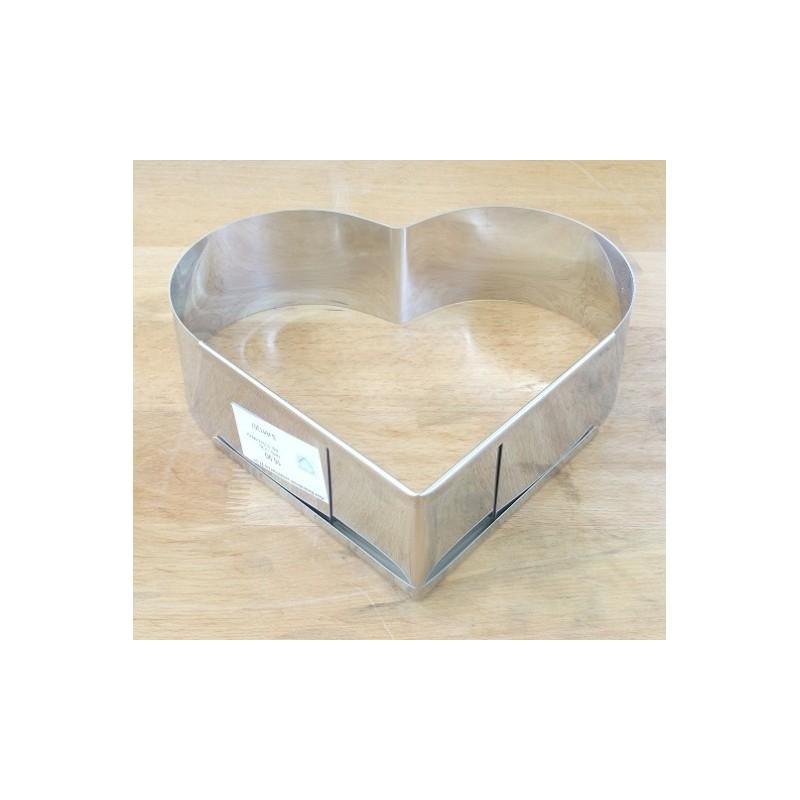 verstellbar 27 cm Backform Herzform